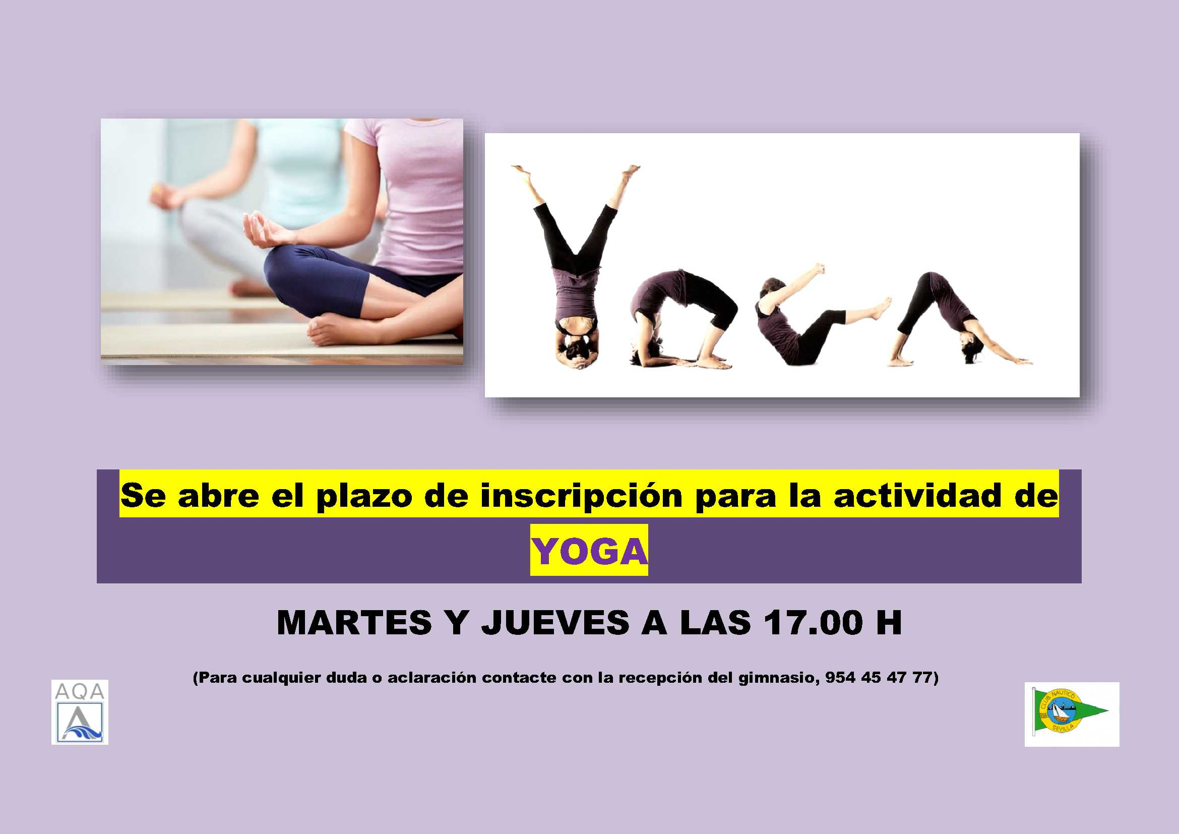 Clases de yoga en el Club Náutico - Club Náutico Sevilla f2ad111509a8