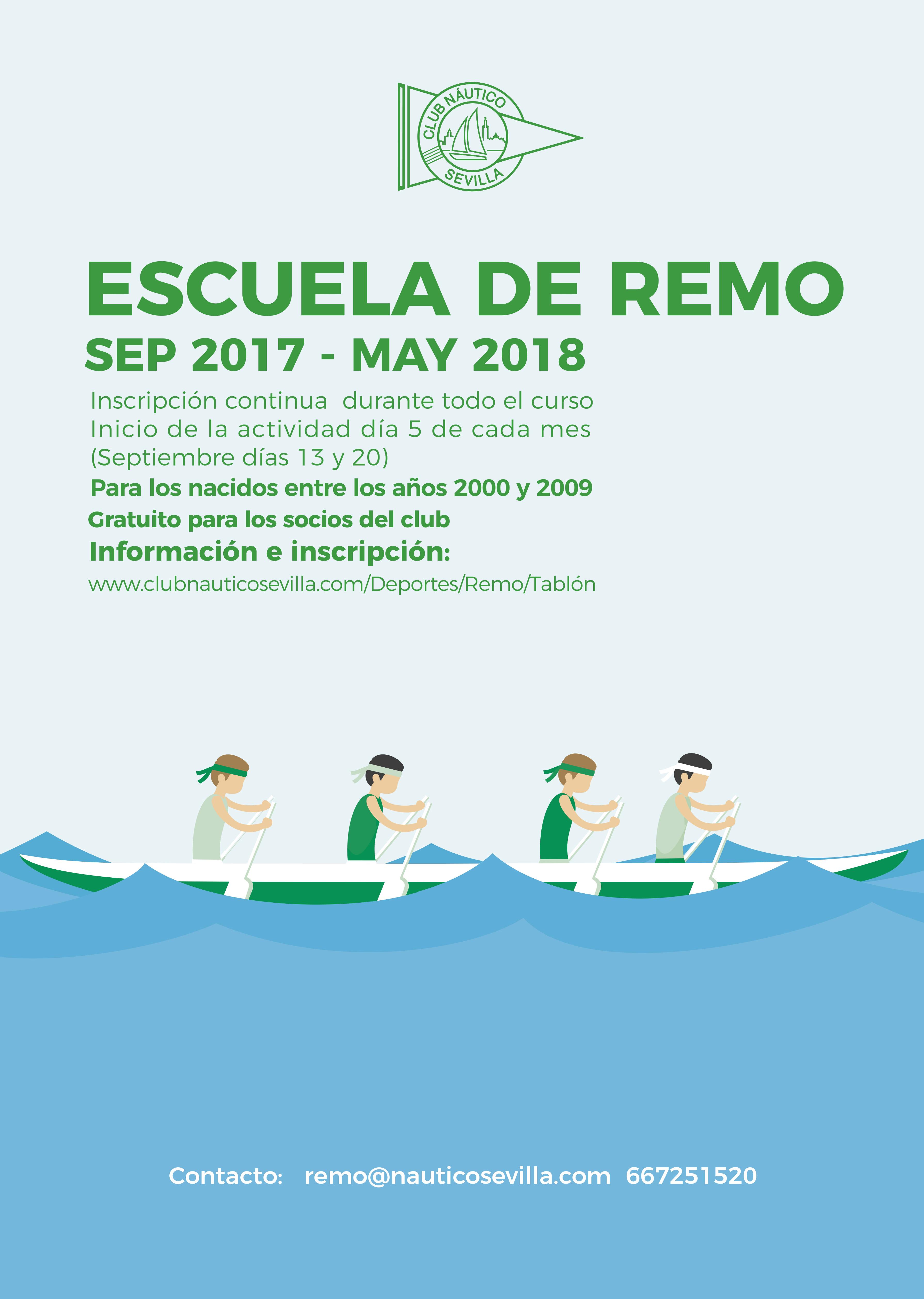 Escuela de remo 2017 2018 del club n utico sevilla club - Socios del sevilla 2017 ...